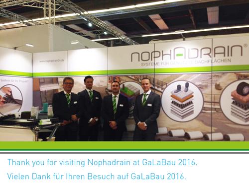 Galabau  Thank you for visiting Nophadrain at GaLaBau 2016 | Nophadrain